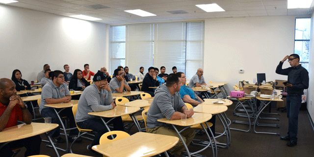 Students in class during a teaching session