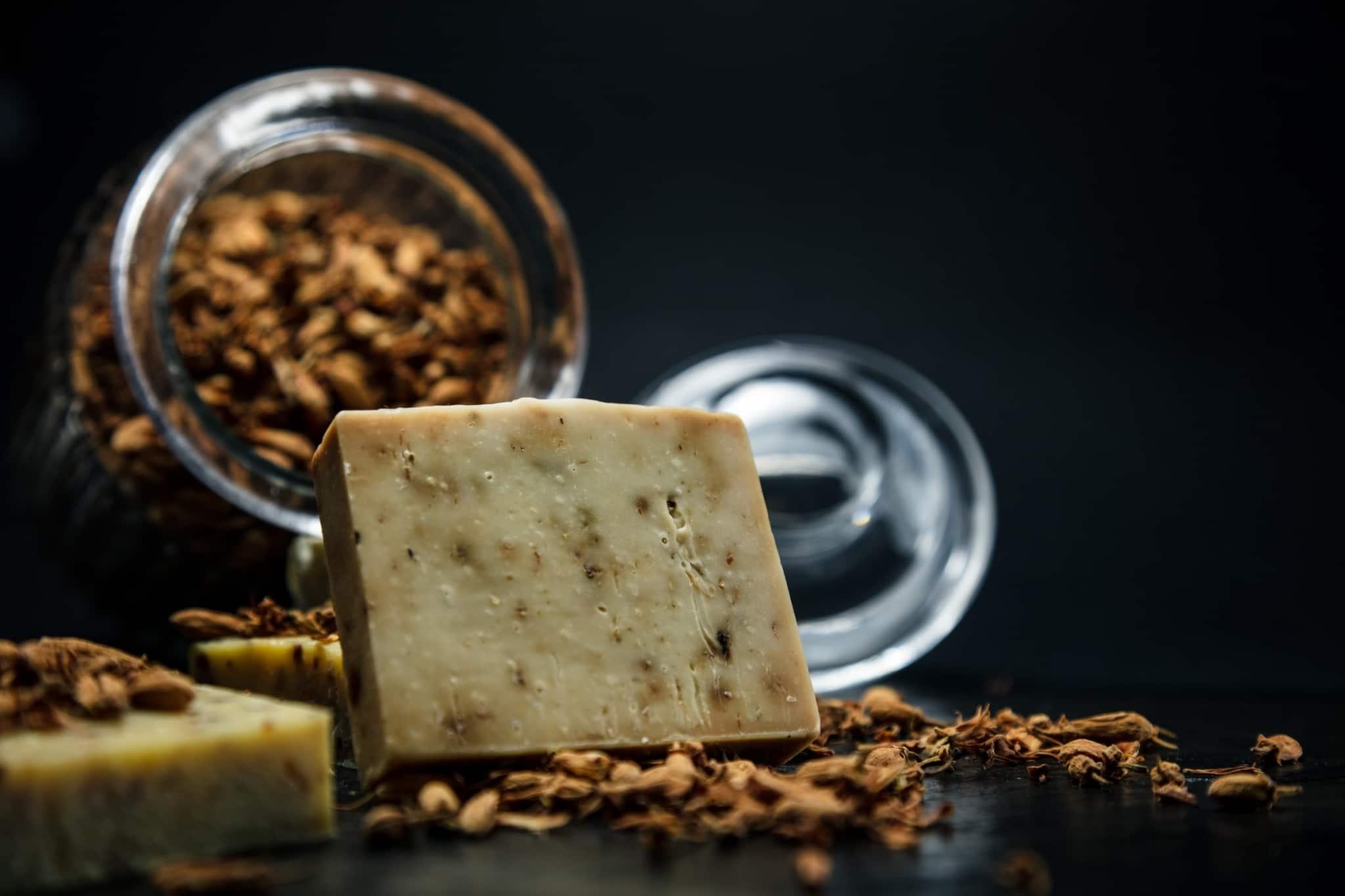Homemade soap bar