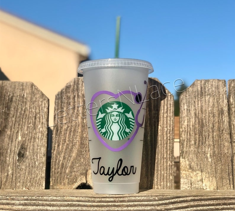 Personalized Starbucks cup from Etsy