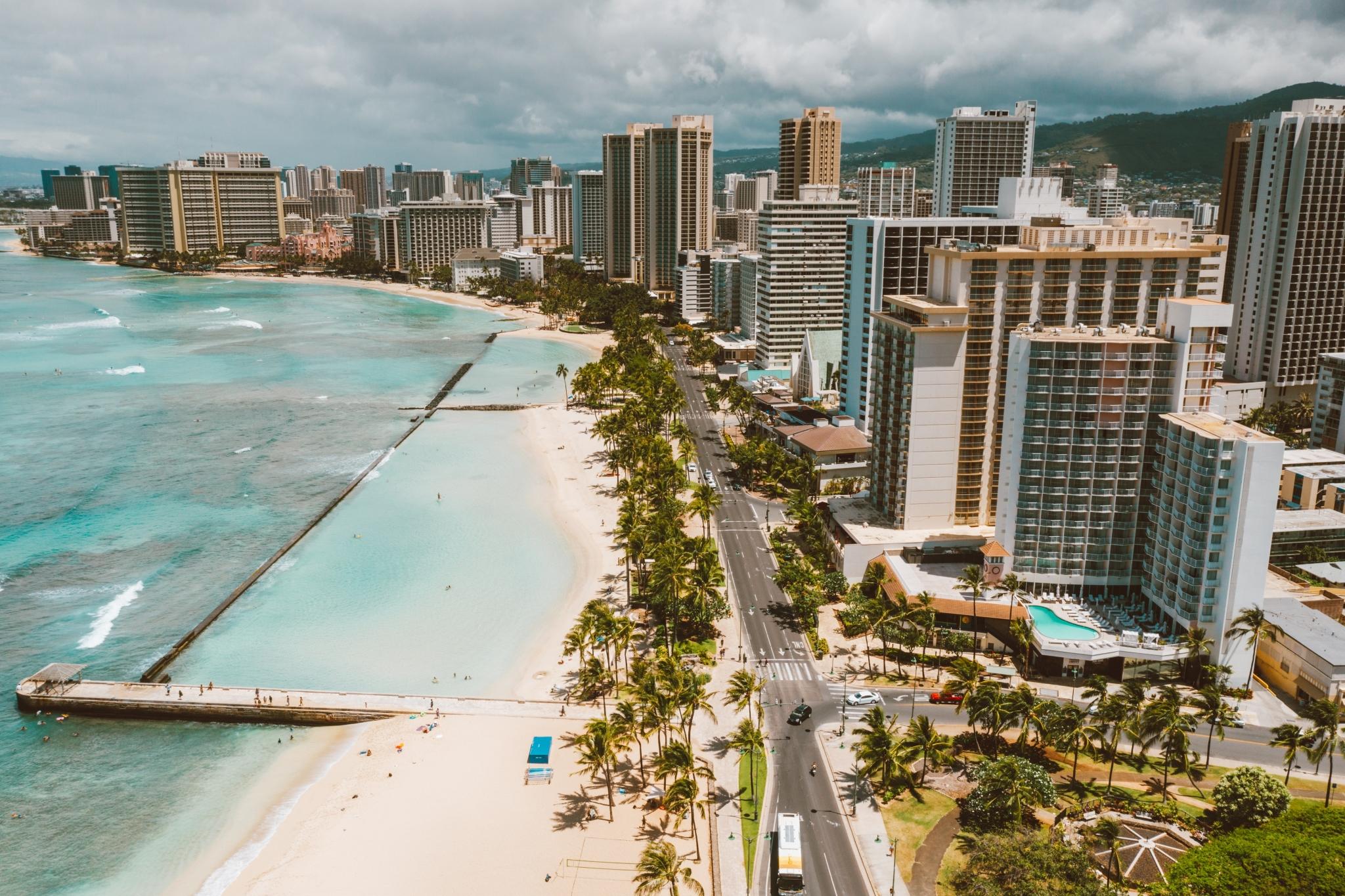 Coastline in Honolulu, Hawaii
