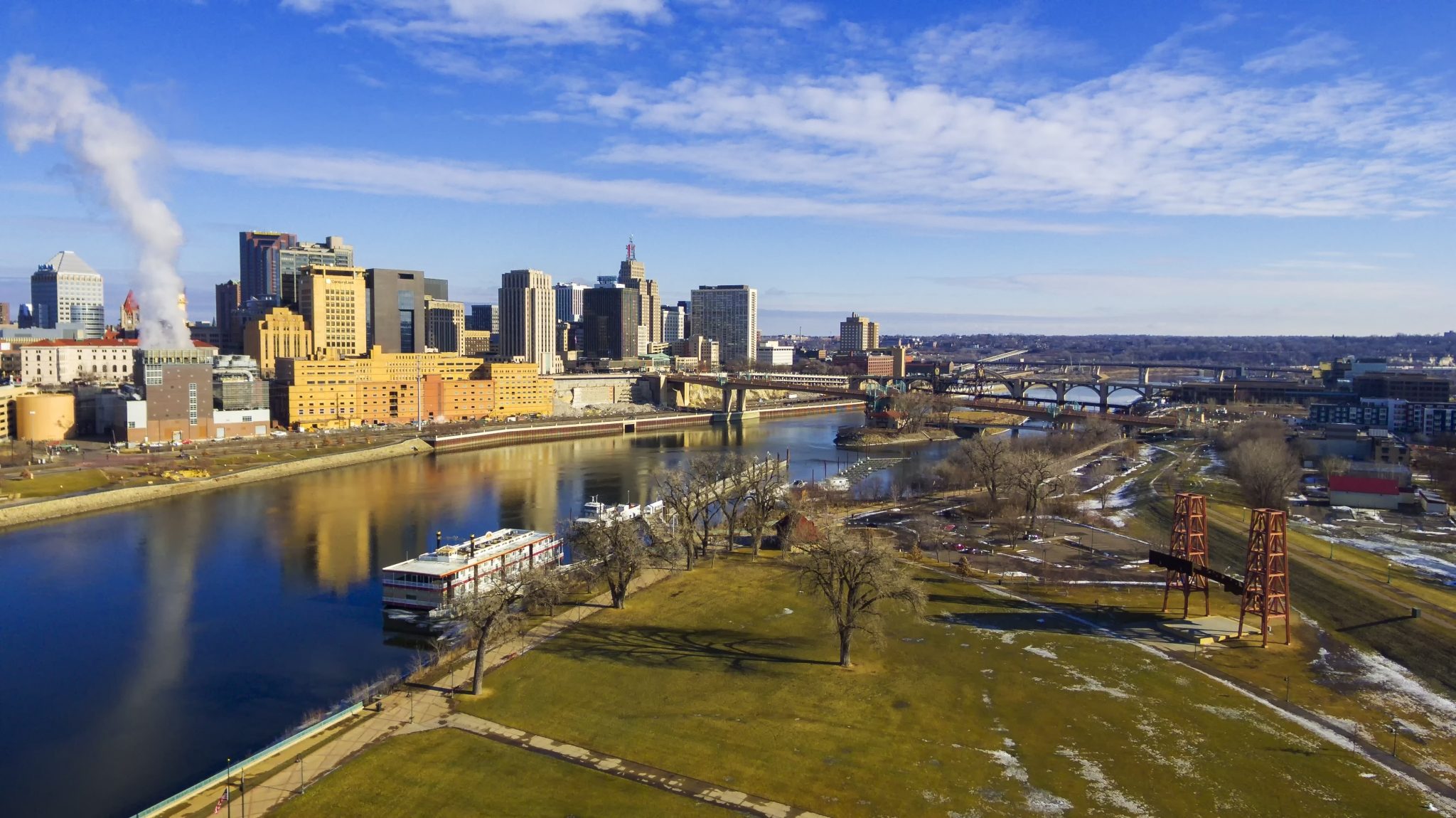 River view of Minneapolis – St. Paul