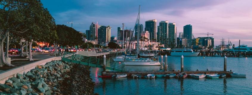 Twilight in San Diego, California