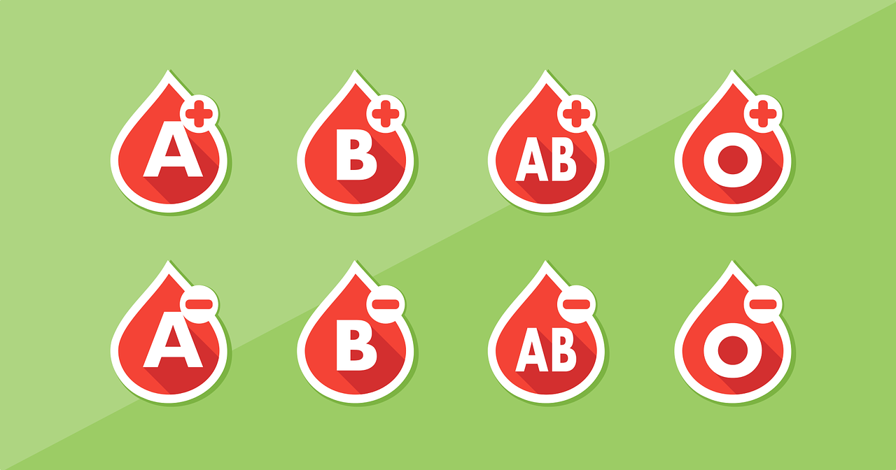 Different blood types