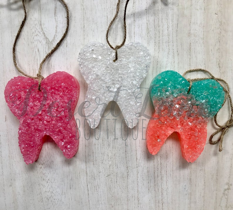 Tooth shaped air freshener